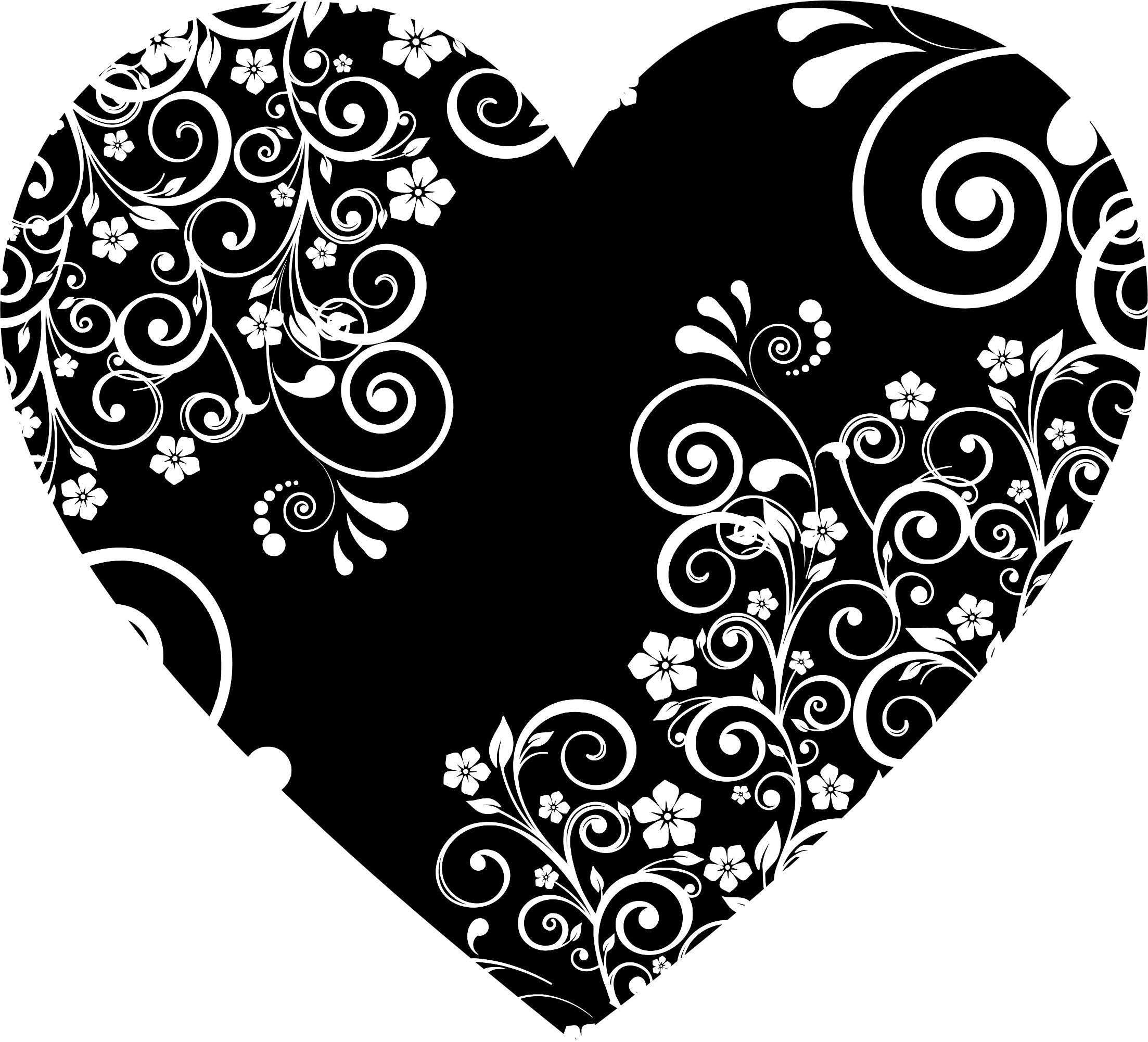 Paisley heart clipart clipart royalty free Clipart - Floral Flourish Heart 3 clipart royalty free