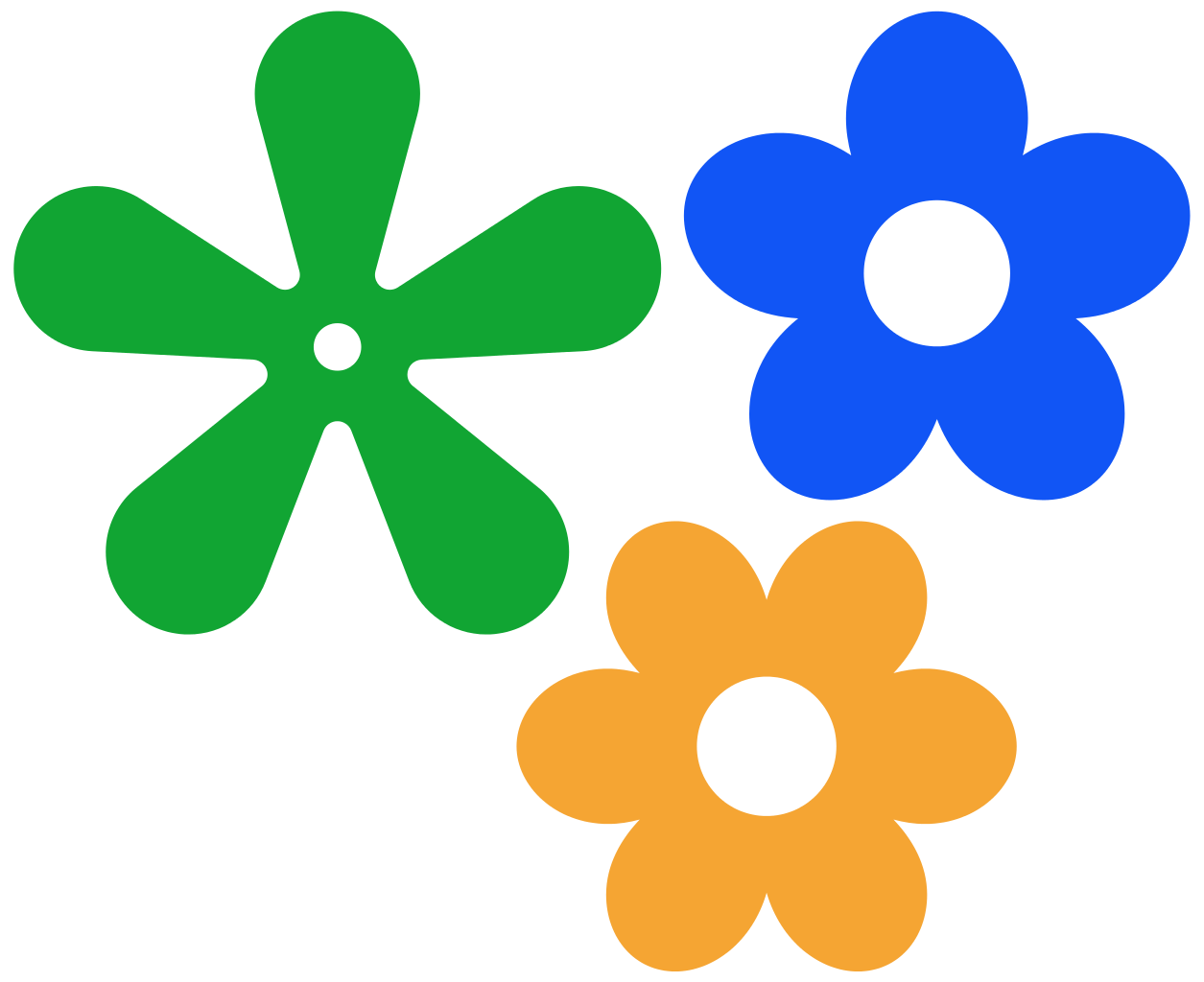 Flower icon clipart. File retro petals svg