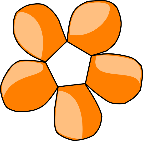 Orange fower free on. Flower in clipart