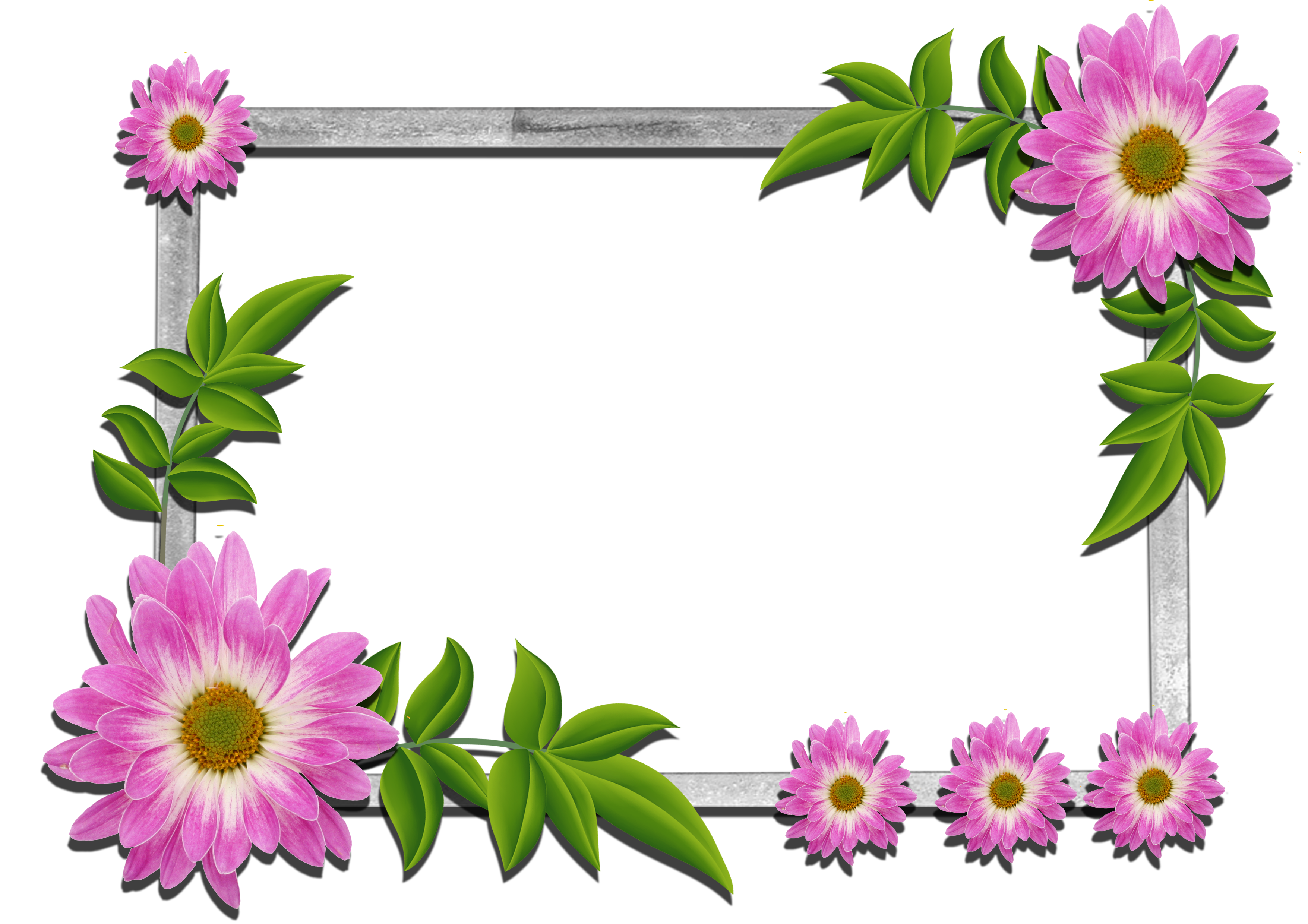 Free download picture of flowers jpg black and white stock Flowers frame (5) | Gallery Yopriceville - High-Quality Images and ... jpg black and white stock