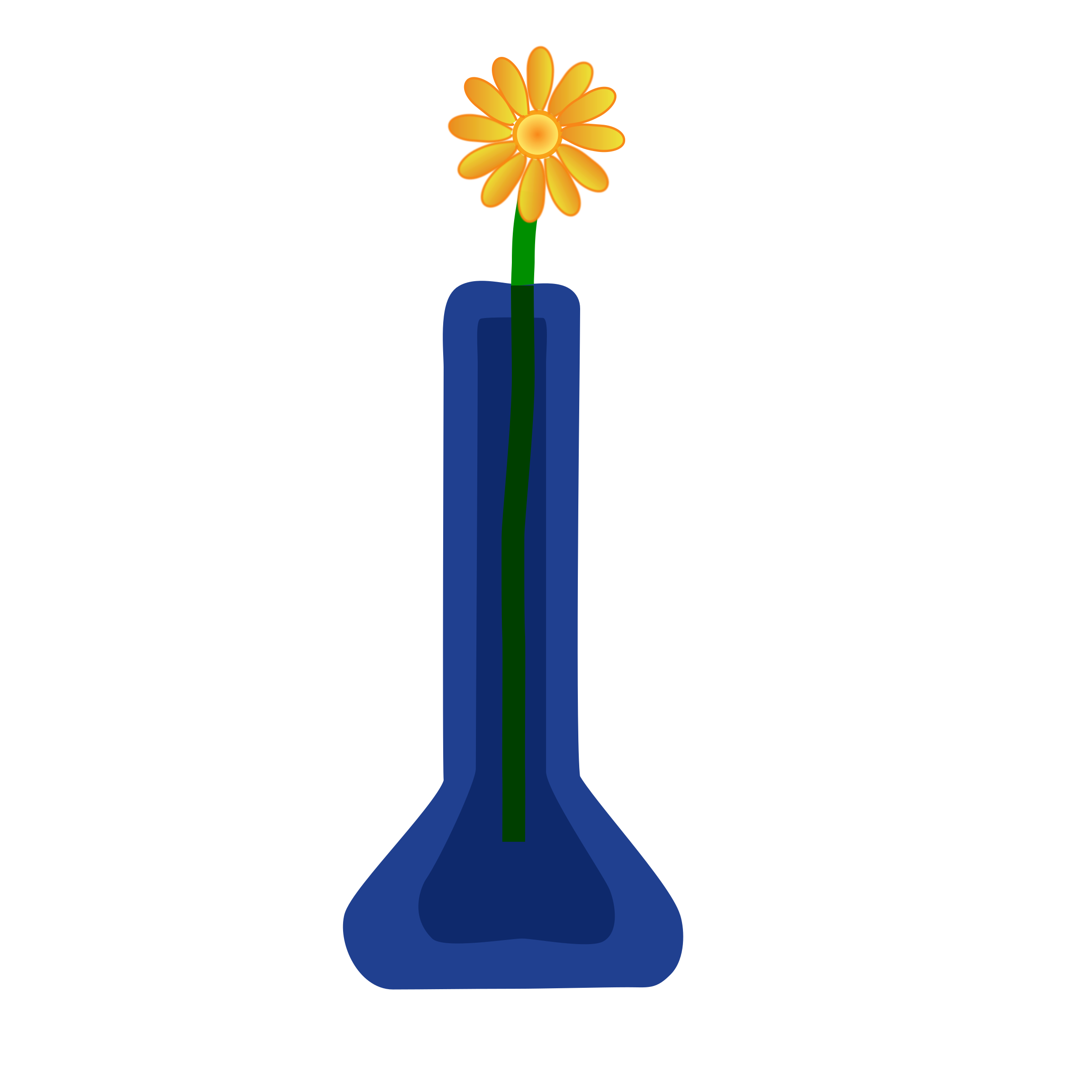 Flower in a vase clipart picture library library Clipart Flower In Vase Blue Png - 1550 - TransparentPNG picture library library