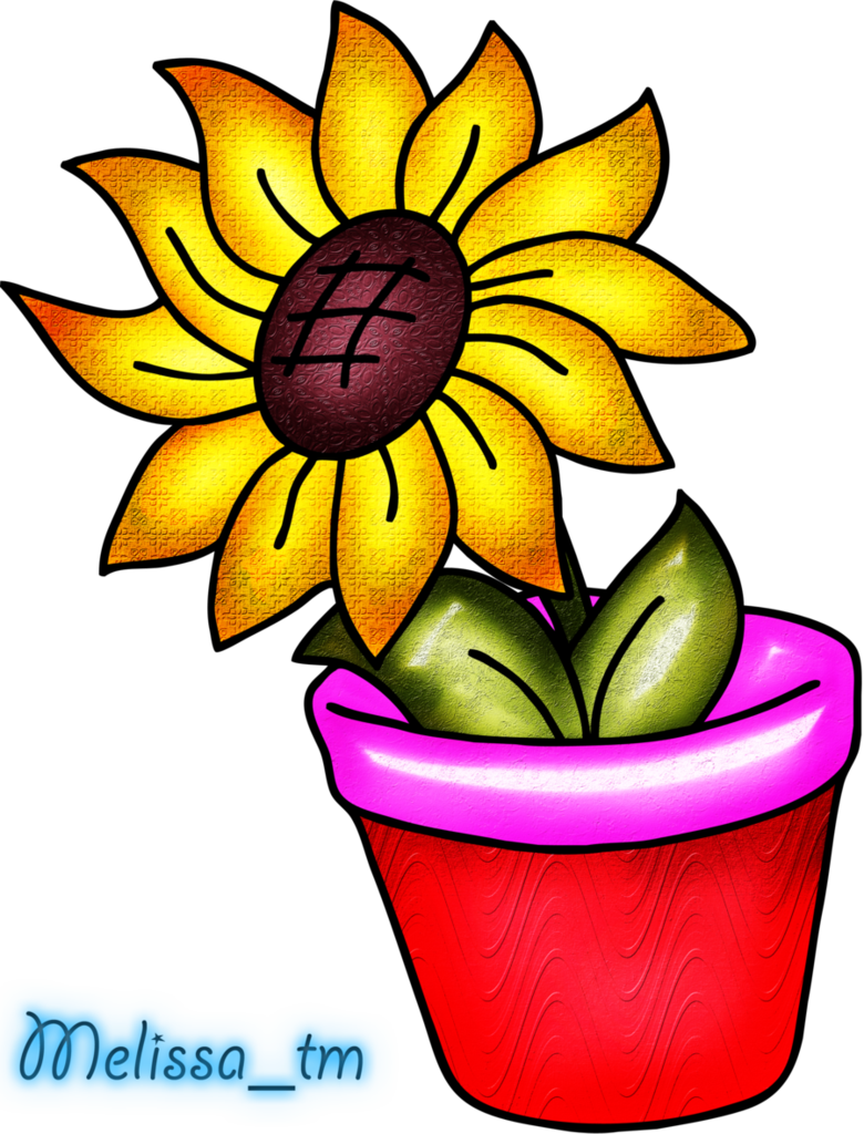 Flower in a vase clipart clip art royalty free download sunflower in a vase png by Melissa-tm on DeviantArt clip art royalty free download