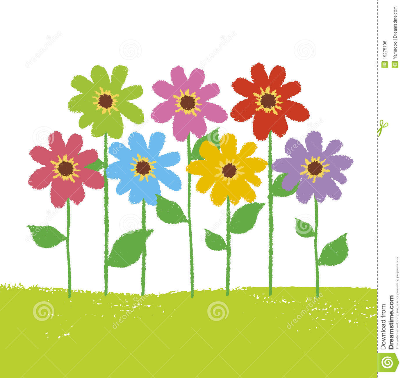 Flower in the garden clipart. Station