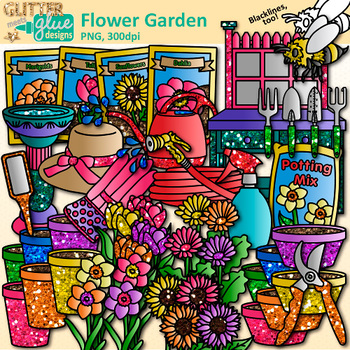 Clip art gardening tool. Flower in the garden clipart