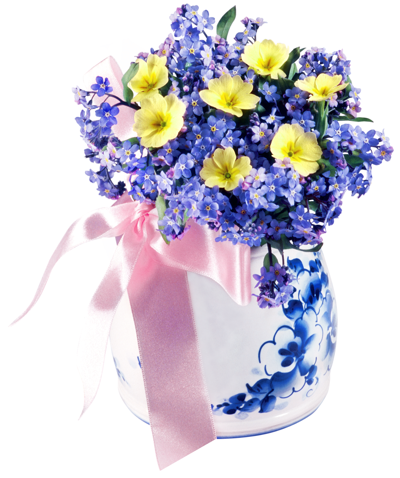 Flower in vase clipart clip freeuse Flowers in Vase PNG Clip Art Image | Gallery Yopriceville - High ... clip freeuse