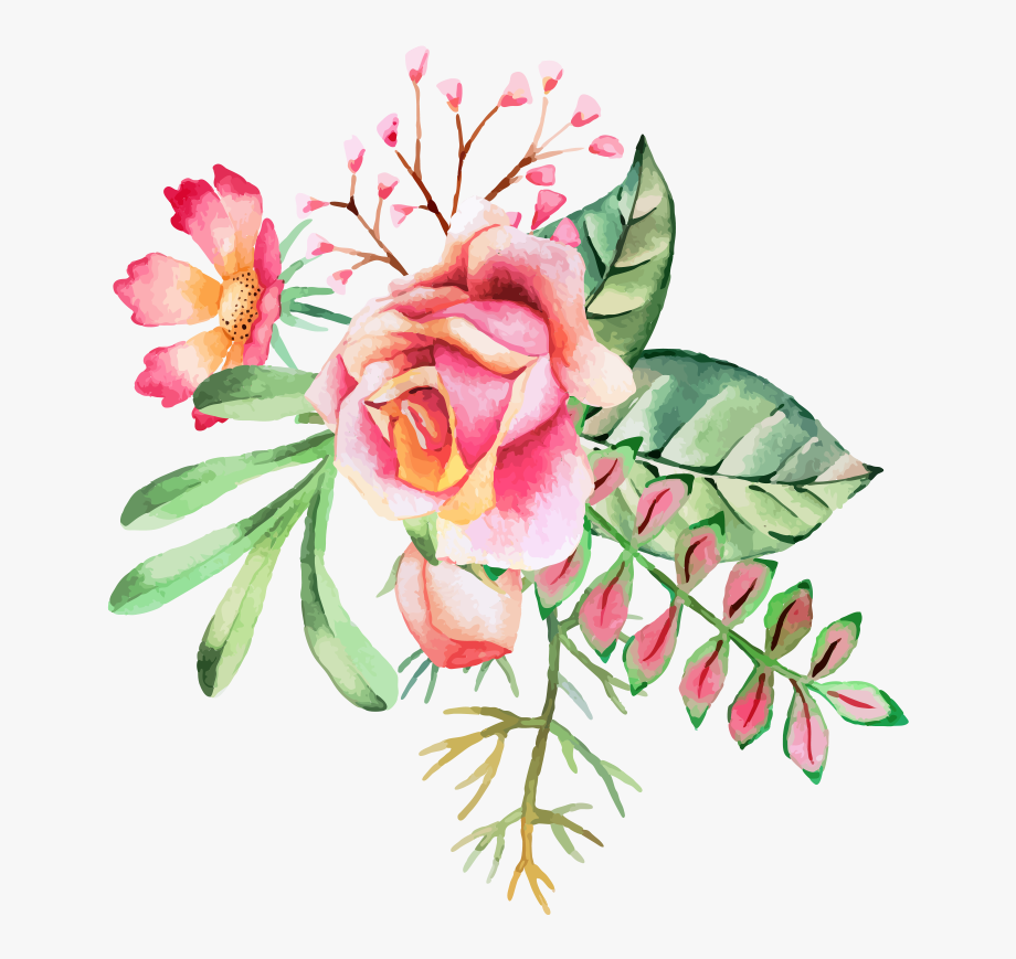 Flower ink clipart jpg transparent download Watercolor Painting Flower Ink - Flower Watercolor Clipart Png ... jpg transparent download