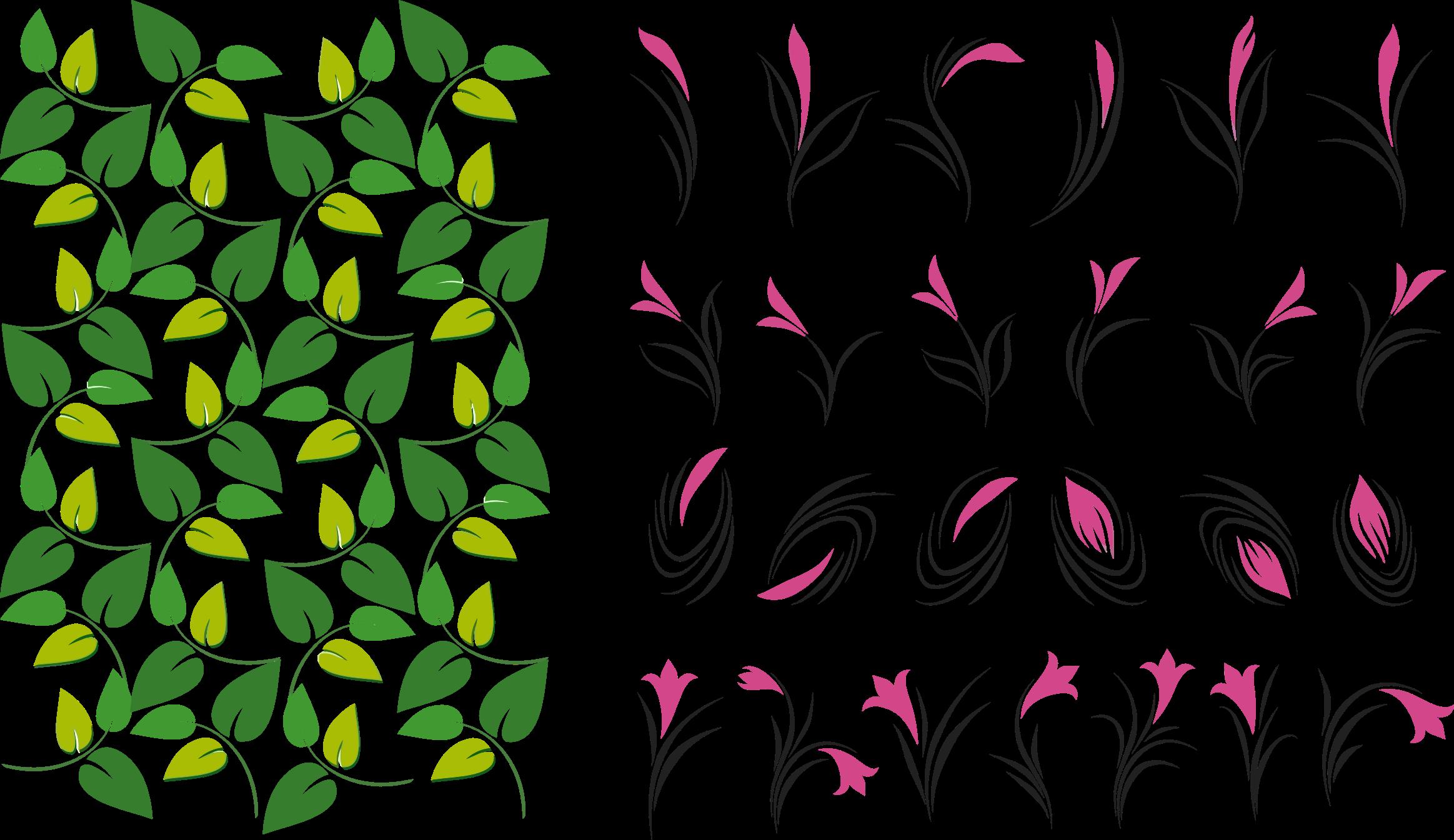 Flower leaves clipart jpg black and white Clipart - Leaves And Flowers jpg black and white