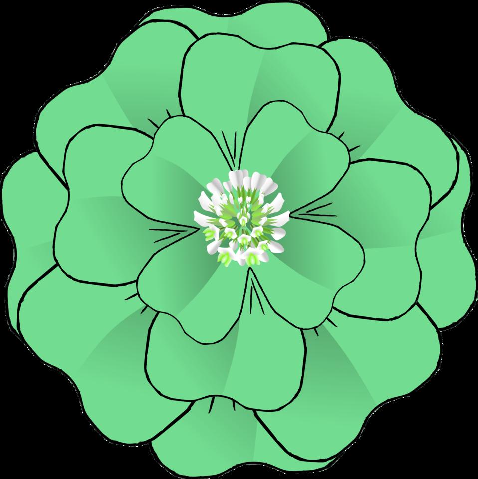 Flower leaves clipart picture Public Domain Clip Art Image | Flower 4 Leaf Clover Corsage ... picture