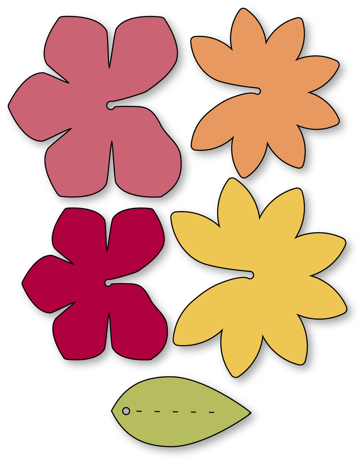 Needles n knowledge island. Flower lei clipart