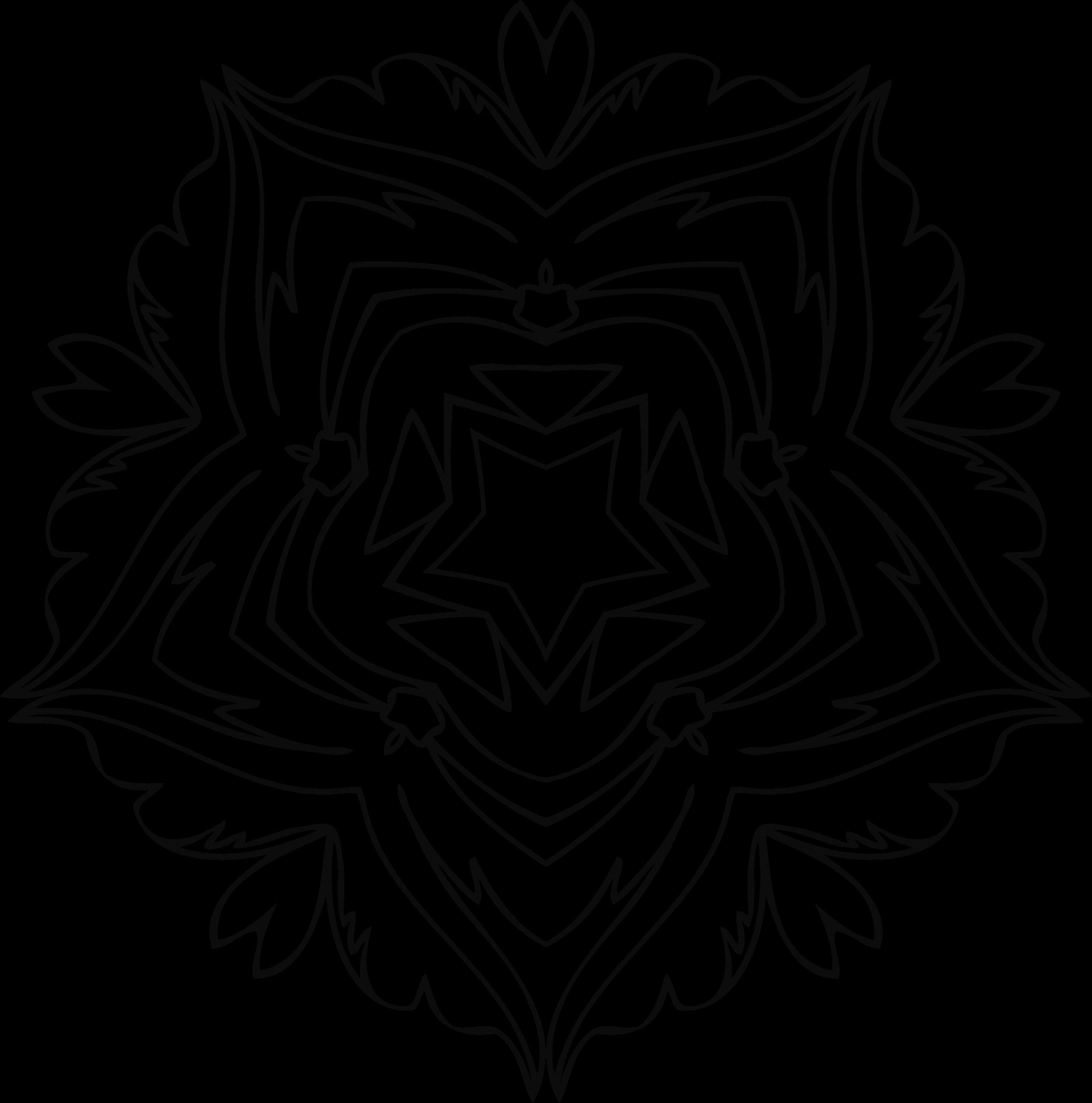 Flower line clipart transparent stock Clipart - Flower Line Art 2 transparent stock