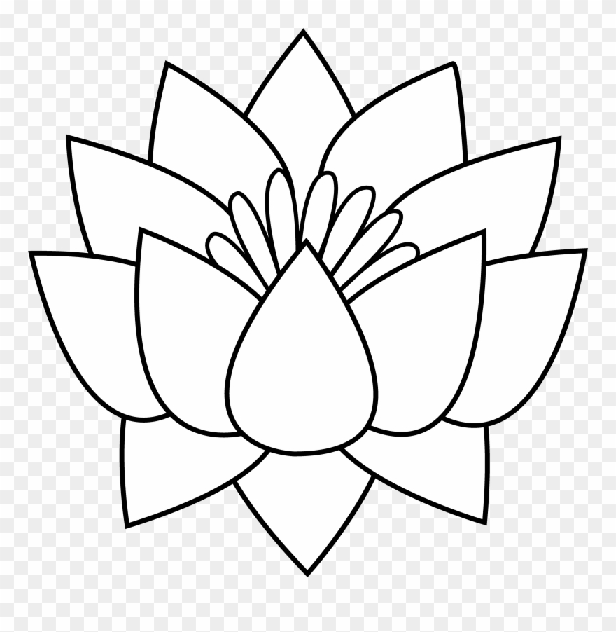 Gallery clip art draw. Flower line drawing clipart free