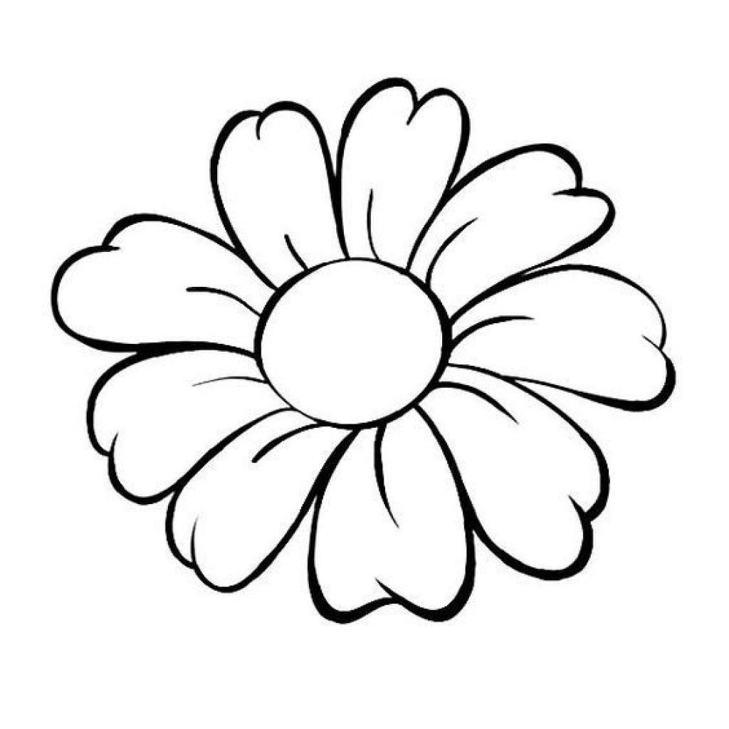 Flower line drawing clipart free. Clip art download best