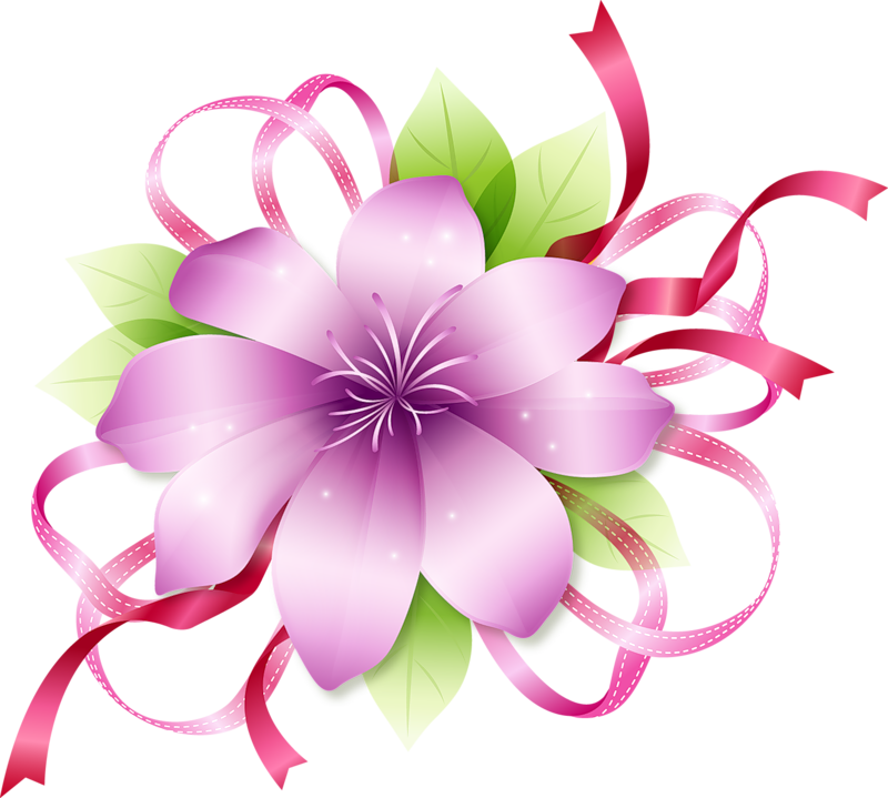Pretty flower clipart png freeuse stock Clipart Pink Flowers | FLOWERS | Pinterest | Flower images, Flower ... png freeuse stock