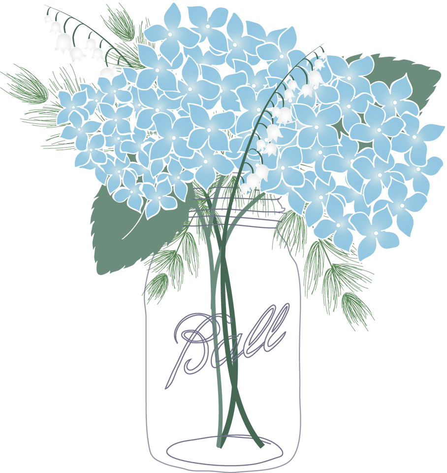 Mason jar with flower clipart clip black and white Shocking Mason Jar Clipart Blue Flower Picture Of Coloring Page ... clip black and white
