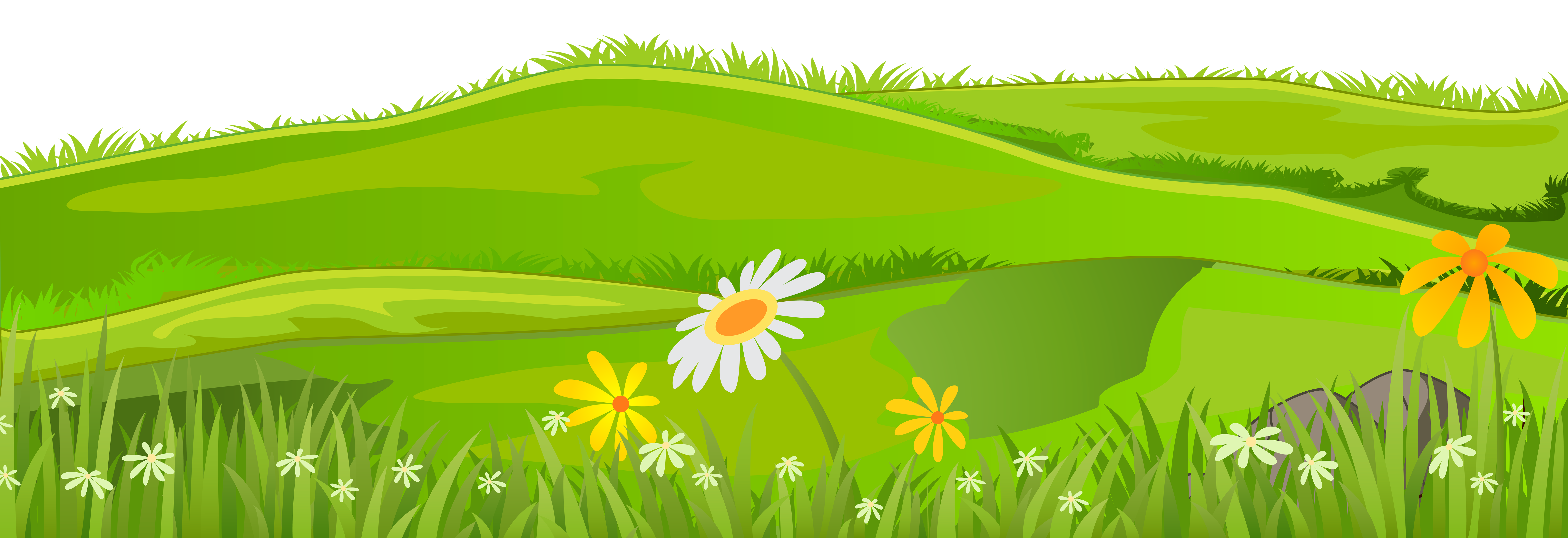 Flower meadow clipart picture transparent Grass Cover PNG Clip Art Image | Gallery Yopriceville - High ... picture transparent