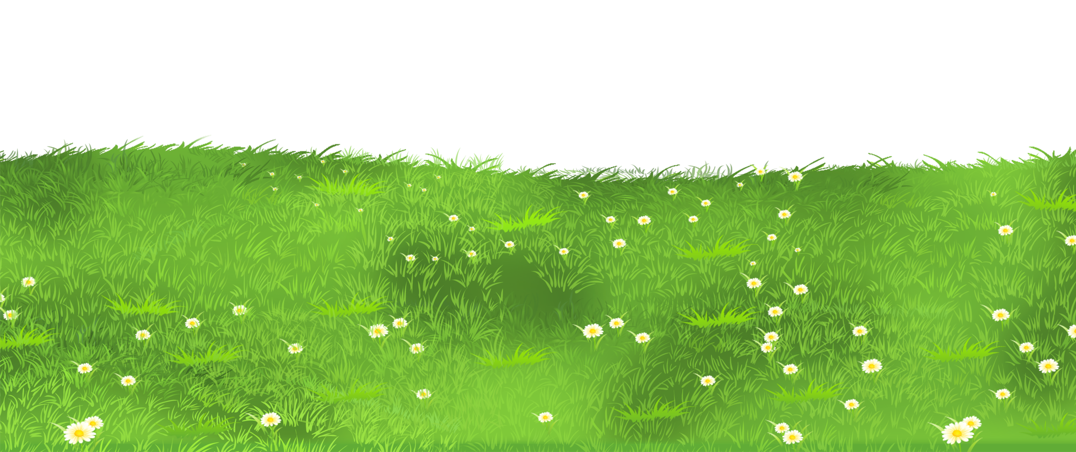 Green grass image diversos. Flower meadow clipart