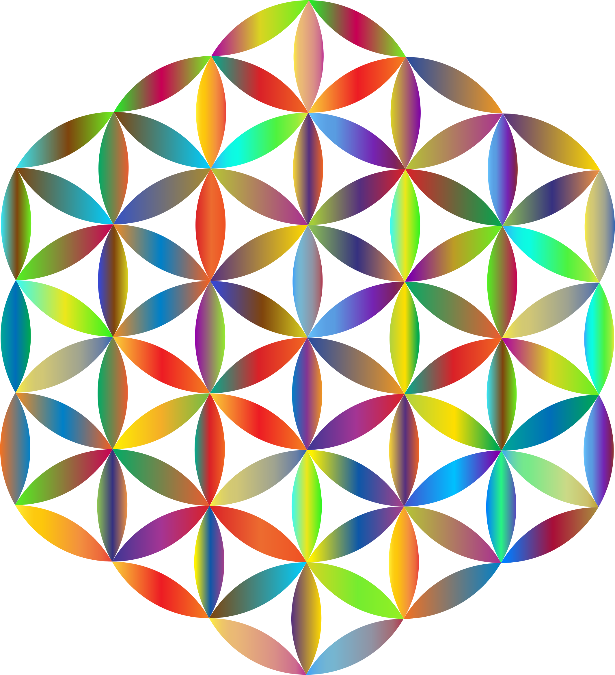 Flower of life clipart clip stock Clipart - Prismatic Flower Of Life clip stock