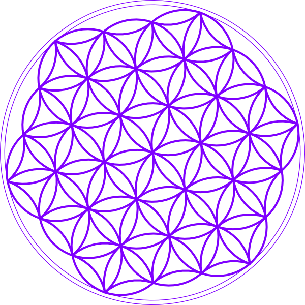 Flower of life clipart png freeuse download Flower Of Life Purple Clip Art at Clker.com - vector clip art online ... png freeuse download