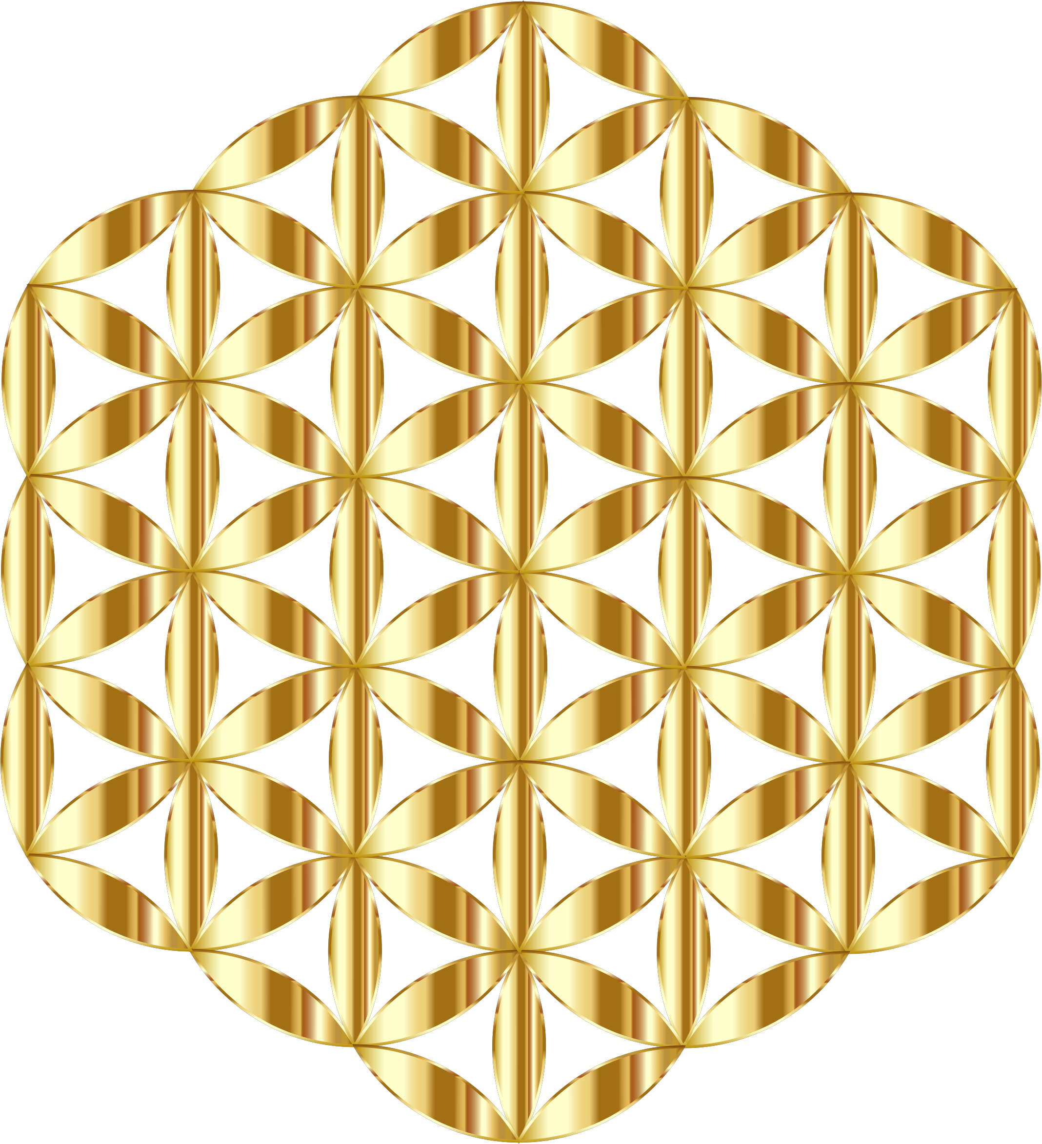 Flower of life clipart banner library download Clipart - Gold Flower Of Life No Background banner library download