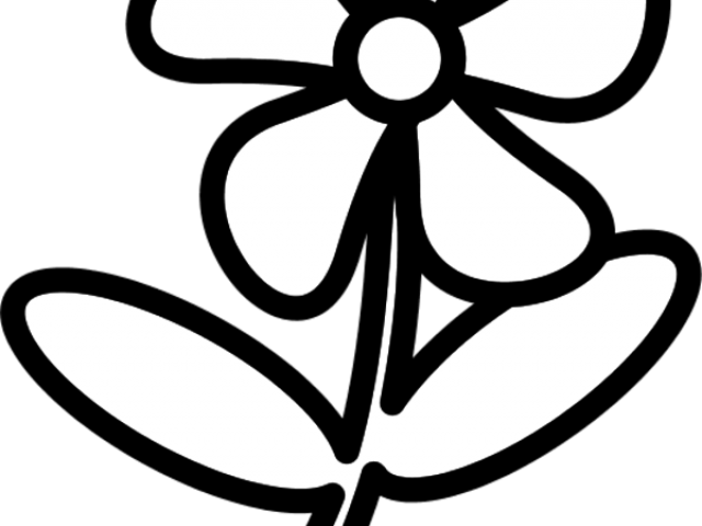 Flower outline clipart black and white image black and white Flower Outline Images Free Download Clip Art - carwad.net image black and white