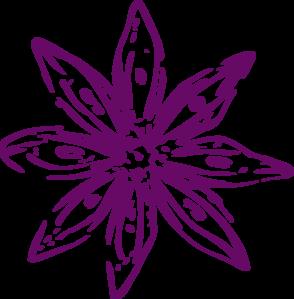 Flower outline clipart png banner freeuse library Purple Outline Flower Clip Art at Clker.com - vector clip art ... banner freeuse library