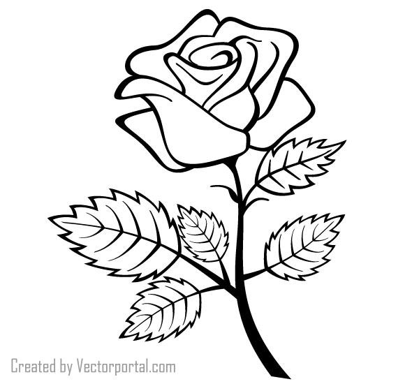 Flower outline clipart png image freeuse download Red rose outline clipart png - ClipartFest image freeuse download