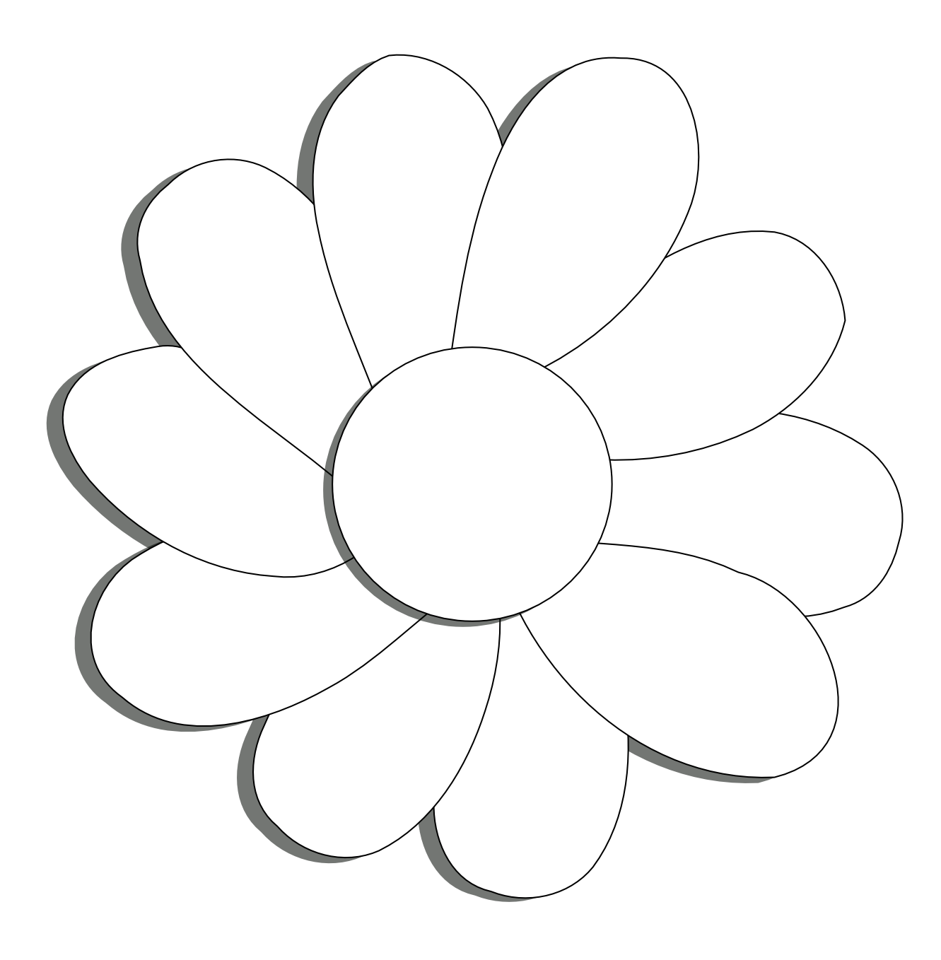 Daisy flower clipart png black and white Daisey flower outline clipart - ClipartFest png black and white