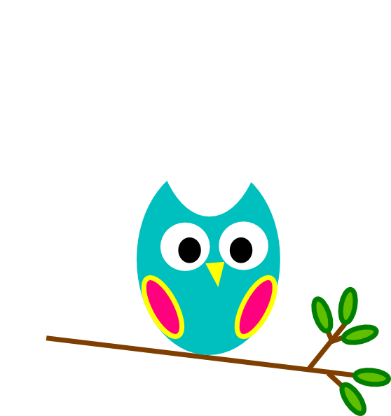 Flower owl clipart graphic transparent Teal And Pink Owl Clip Art at Clker.com - vector clip art online ... graphic transparent