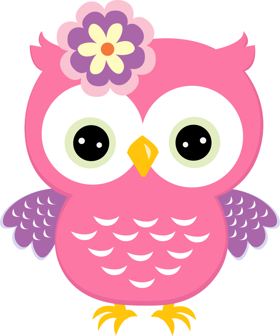 Owl turkey clipart graphic download Pink owl with flower | Owls ~~ | Pinterest | Pink owl, Owl and Flower graphic download