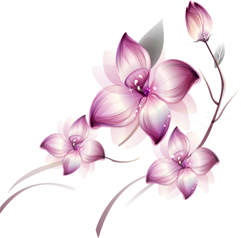 Flower painting clipart royalty free Painted Transparent Large Pink Flower Clipsrt | Gallery ... royalty free