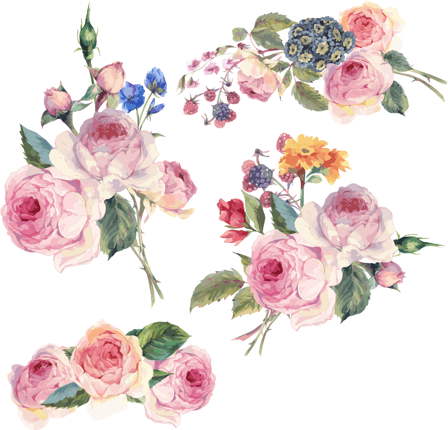 Flower painting clipart image free download Flower Floral design Clip art - Hand-painted flowers vector 900*864 ... image free download