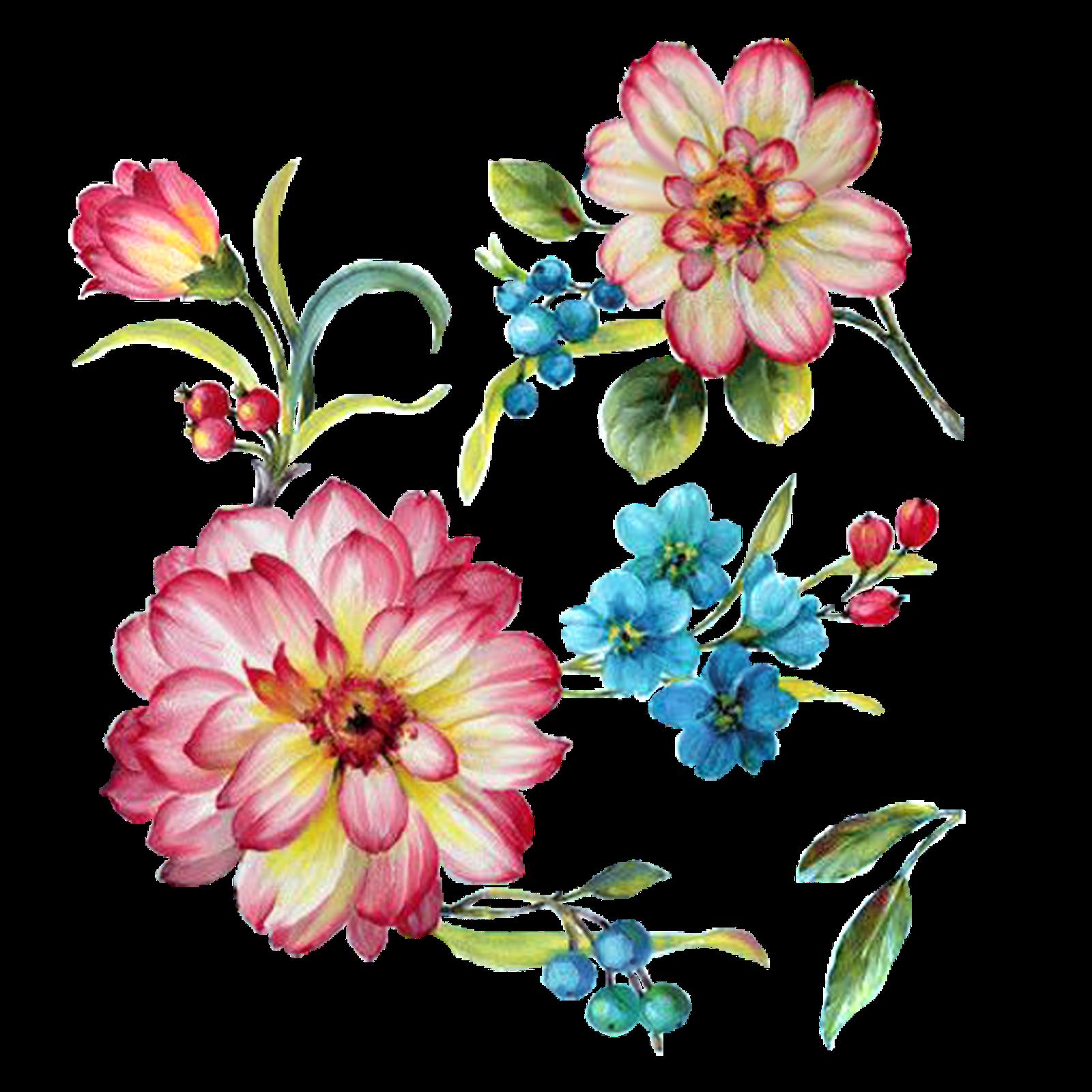 Flower painting clipart png download yüksek çözünürlüklü dekupaj resimleri,sanatsal dekupaj resimler ... png download