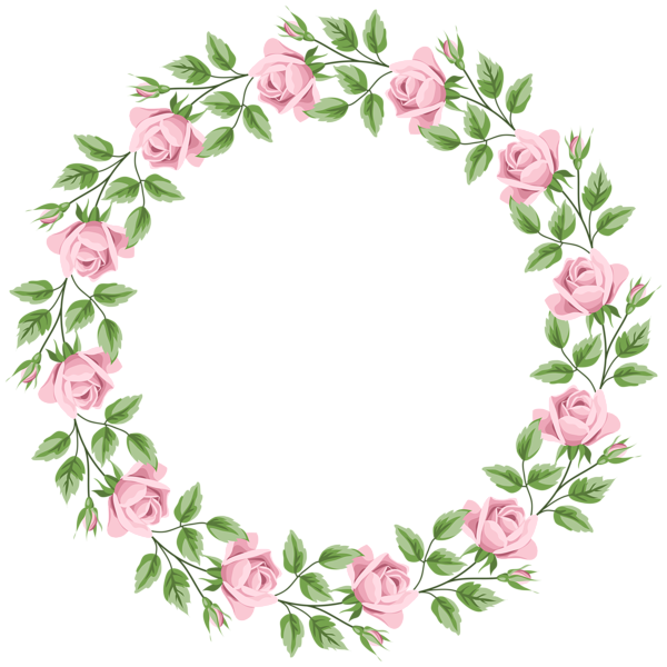 Flower parts clipart picture freeuse download Pink Rose Border Frame Transparent PNG Clip Art | 1 | Pinterest ... picture freeuse download