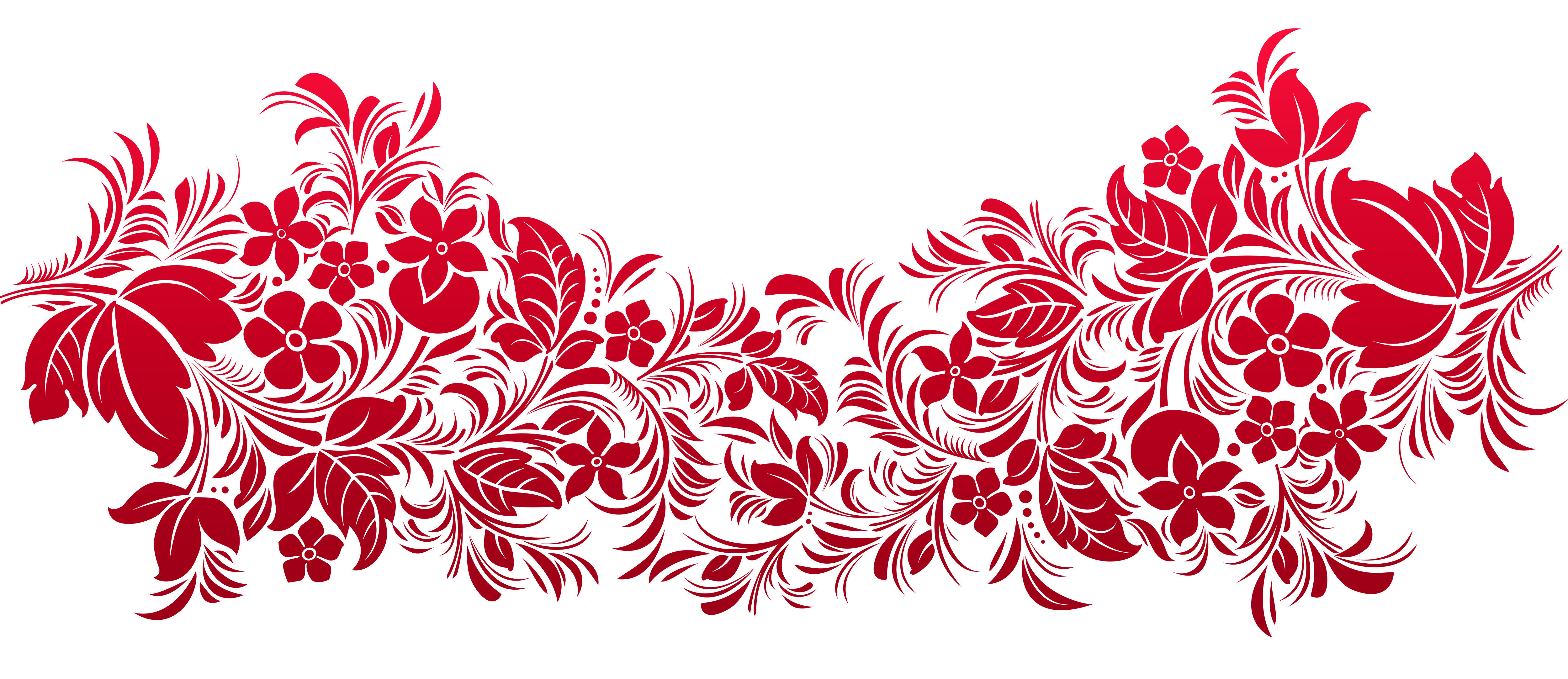 Flower pattern clipart image royalty free Red Transparent Decoration PNG Clipart | Gallery Yopriceville ... image royalty free