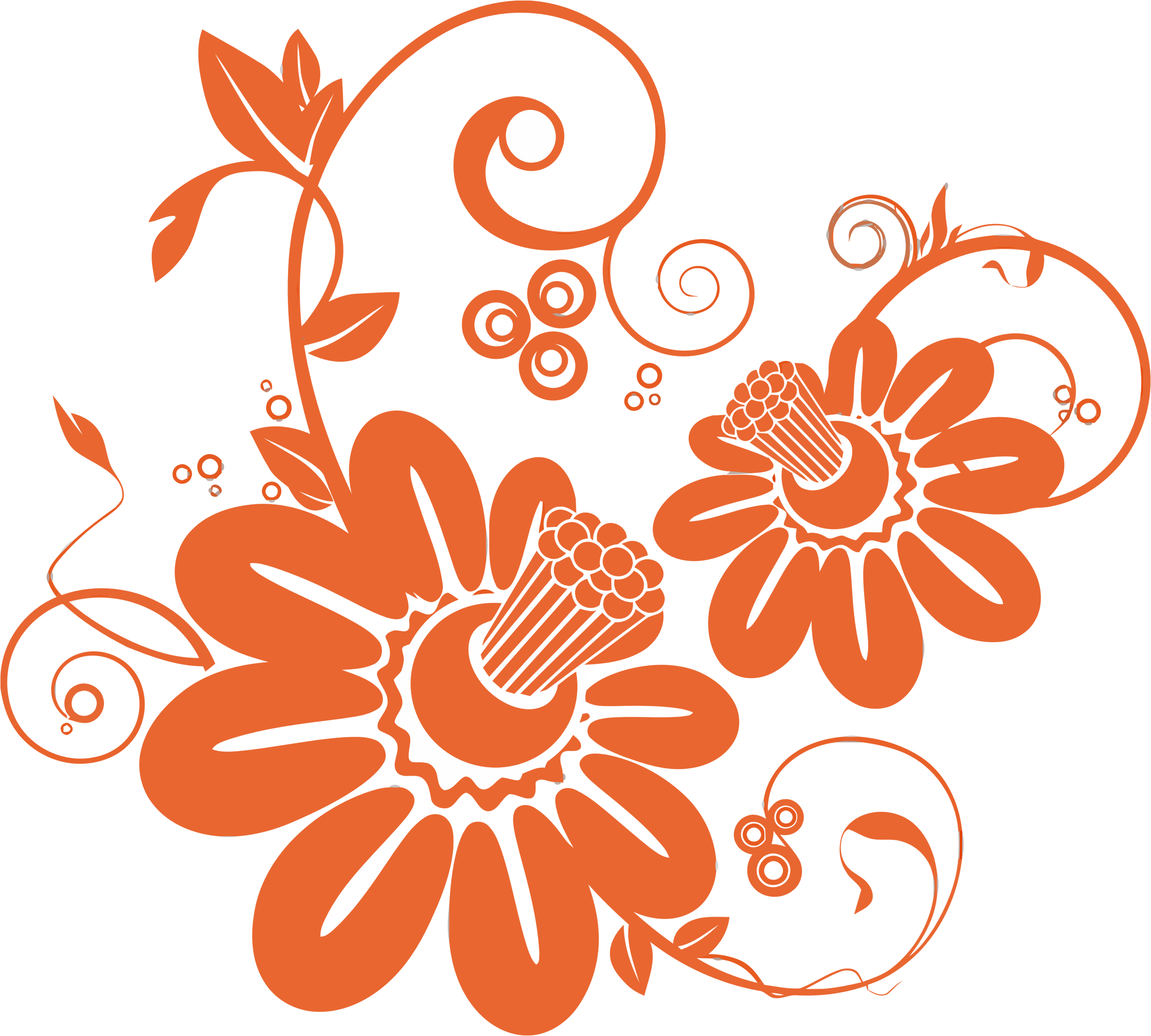 Flower pattern clipart svg free Clipart - Abstract Floral Pattern svg free