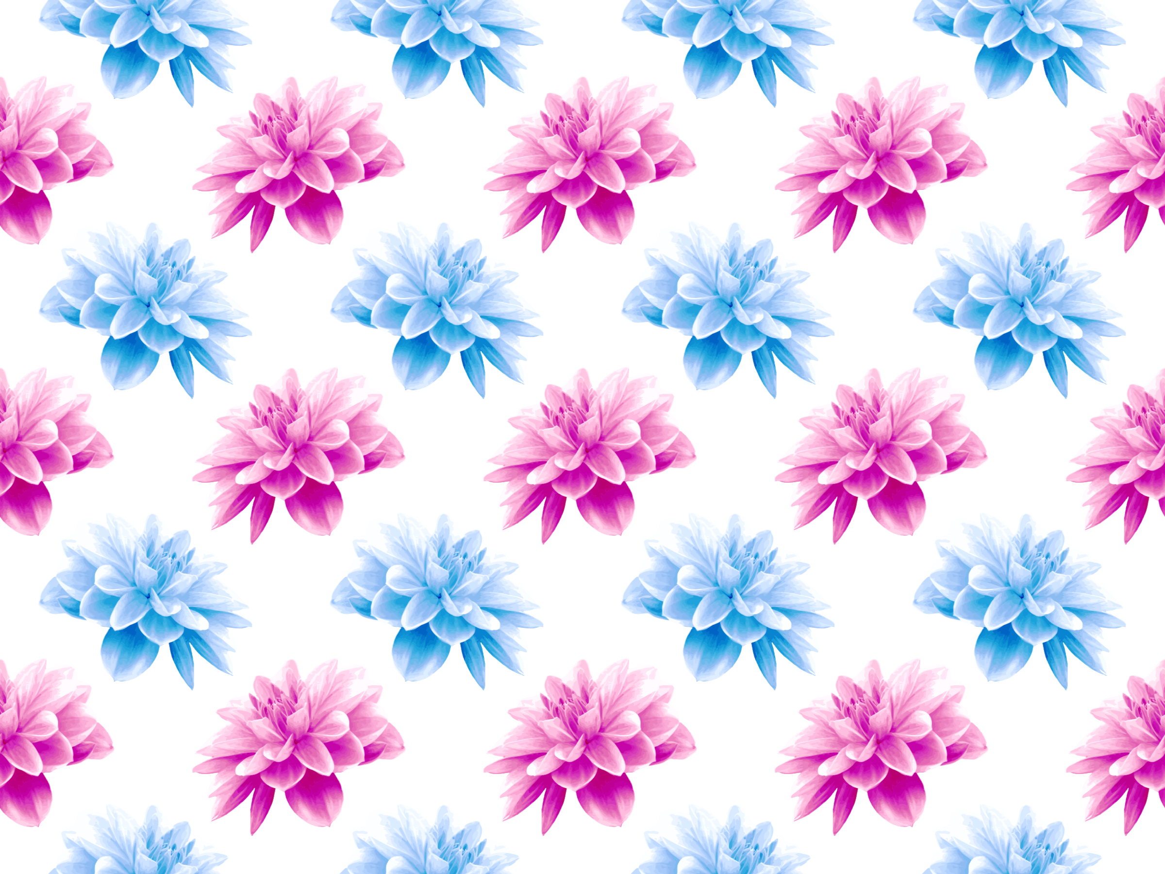 Flower pattern clipart picture free download Clipart - Flower pattern 5 (fuller colours) picture free download