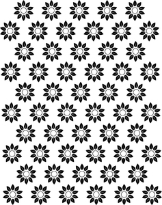 Flower patterns clipart graphic black and white download Flower Pattern Clip Art - ClipArt Best graphic black and white download