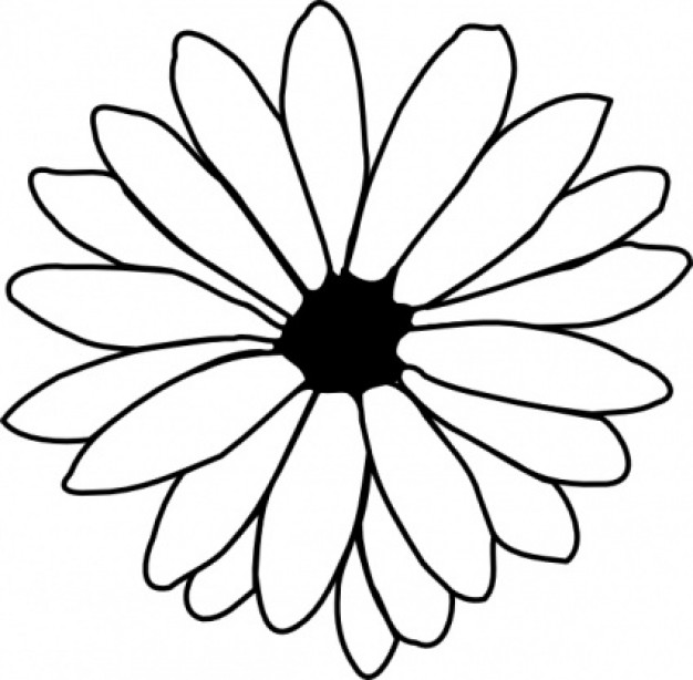 Flower patterns clipart image black and white Traceable Flower Patterns | Free Download Clip Art | Free Clip Art ... image black and white