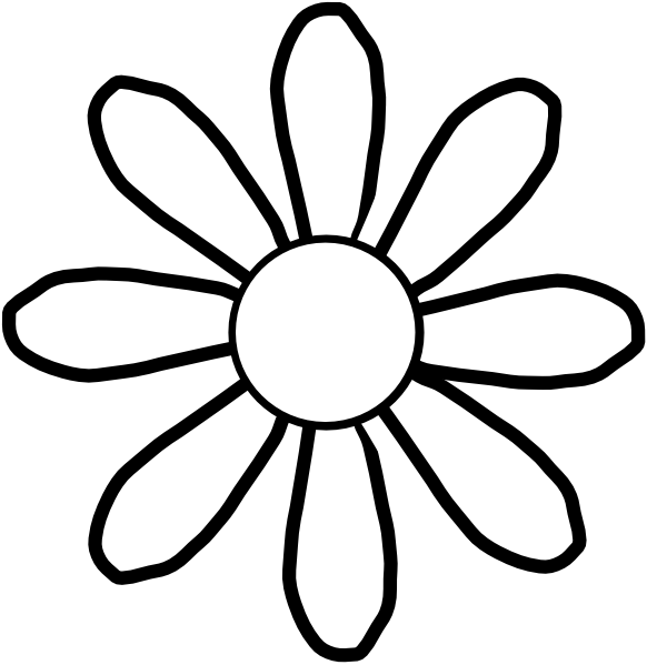 Simple black and white flower clipart vector transparent download Traceable Flower Patterns | Free Download Clip Art | Free Clip Art ... vector transparent download