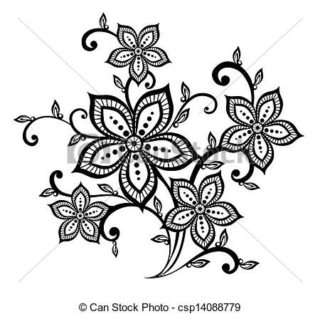 Flower patterns clipart graphic royalty free Flower patterns clipart - ClipartFest graphic royalty free
