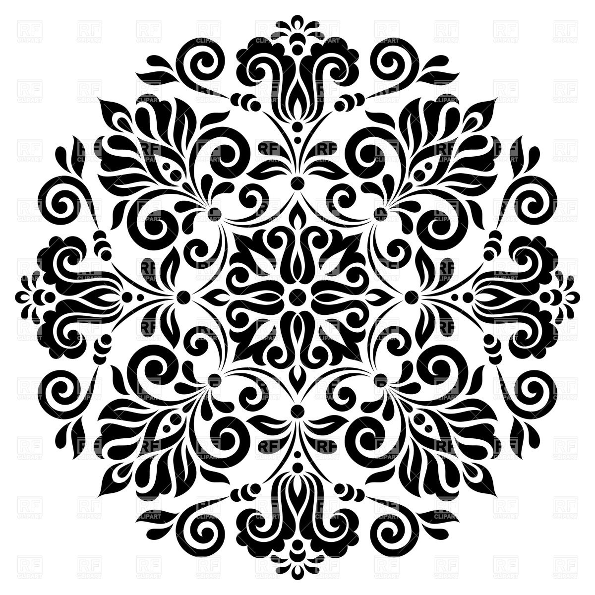 Flower patterns clipart clip art black and white download Flower Pattern Clipart - Clipart Kid clip art black and white download