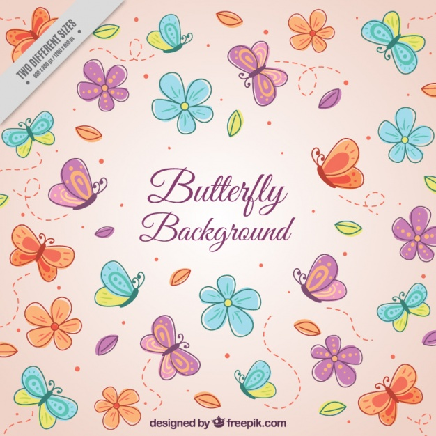 Flower patterns clipart clipart black and white download Butterfly Vectors, Photos and PSD files | Free Download clipart black and white download