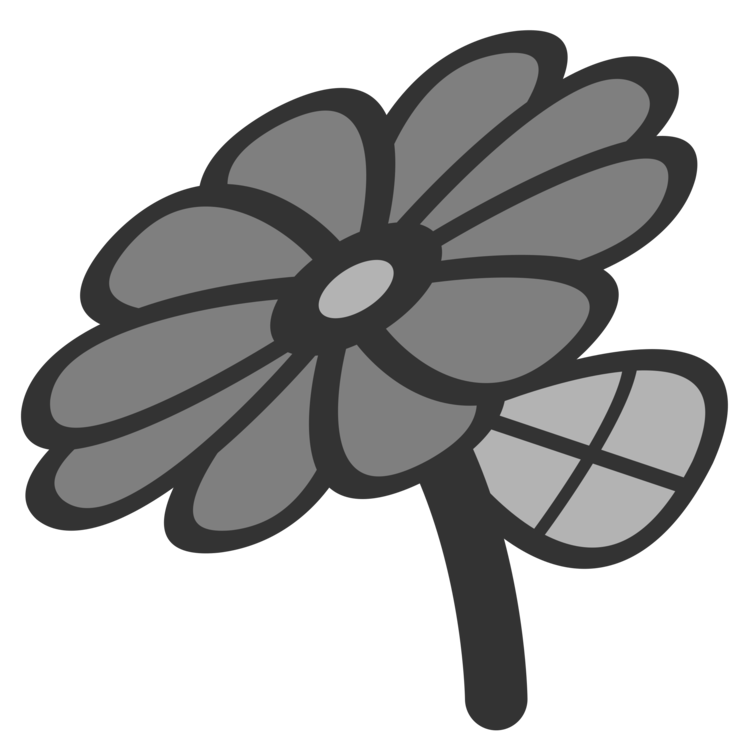 Flower petal clipart black and white clip royalty free library Symbol Flower Petal Common daisy Sign free commercial clipart ... clip royalty free library
