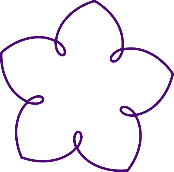 Flower petal outline clipart freeuse download Purple Flower Shape Clip Art at Clker.com - vector clip art online ... freeuse download