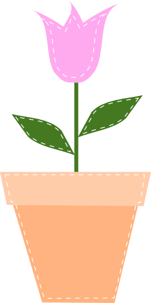 Flower pot clipart png clip black and white download Pink Tulip In Flower Pot Clip Art at Clker.com - vector clip art ... clip black and white download