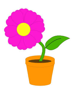 Flower pot clipart png png royalty free download Pink flower pot clipart - ClipartFest png royalty free download