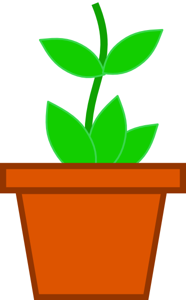 Flower pot clipart png library Flower Potted Plant Clipart - Clipart Kid library