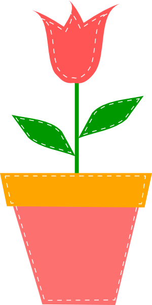 Flower pot clipart png image freeuse Tulip In Flower Pot Clip Art at Clker.com - vector clip art online ... image freeuse