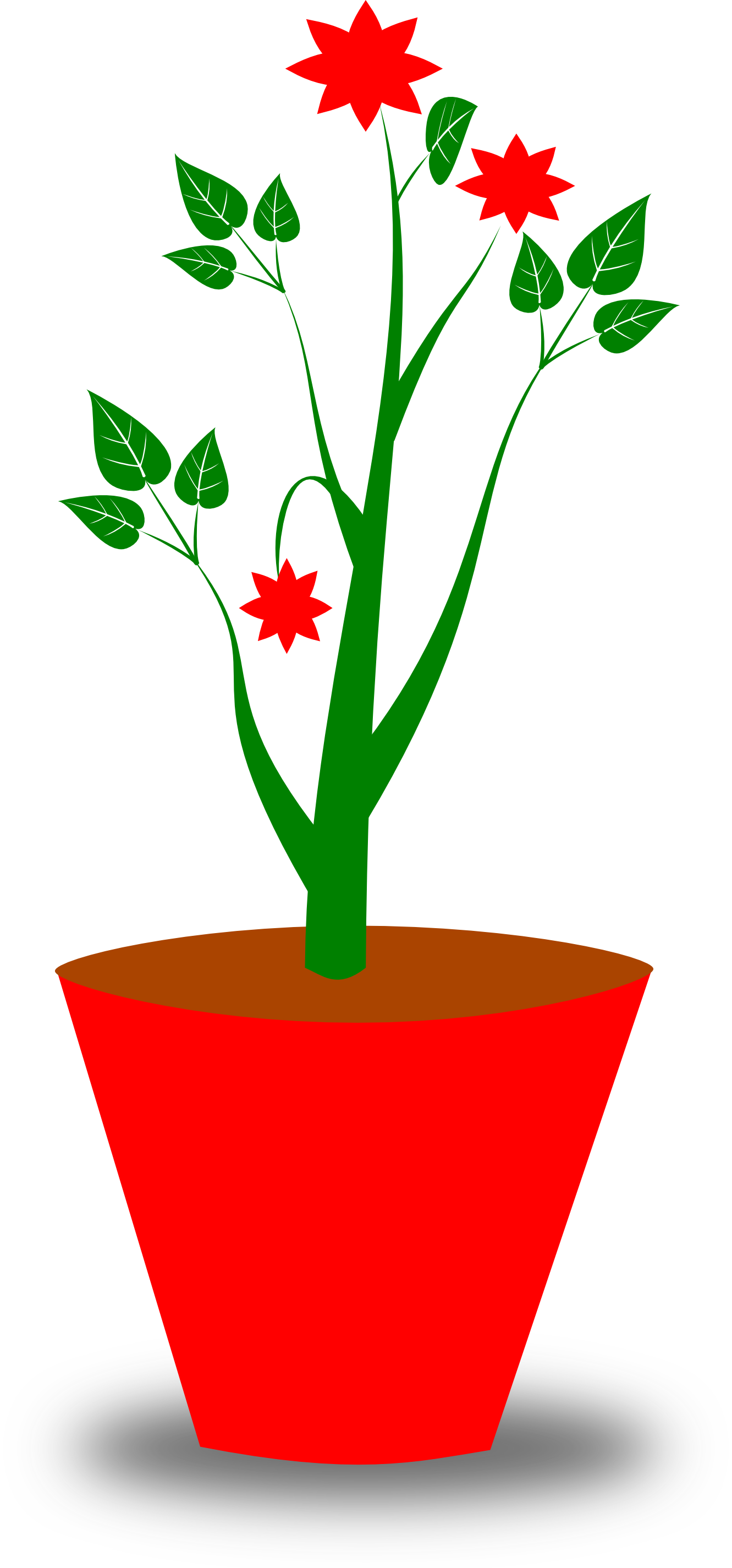 Flower pot with stems clipart black and white svg royalty free stock Free Flower Pot Clipart, Download Free Clip Art, Free Clip Art on ... svg royalty free stock