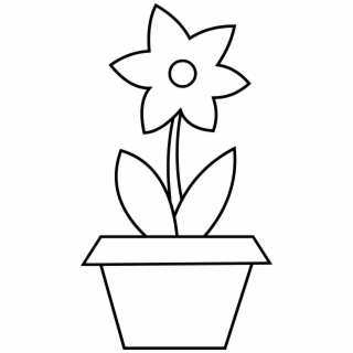 Flower pot with stems clipart black and white png library library Flower Pot PNG Images | Flower Pot Transparent PNG - Vippng png library library